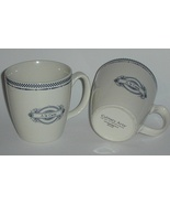 Two Elegant Culinary Arts Blue and White A La Carte China Mugs New - $11.00