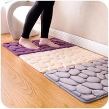 Bathroom Mat Rug Memory Foam Coral Carpet Soft Non Slip Toilet Decor Pat... - $9.43