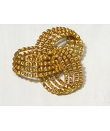 Vintage TEXTURED MONET Gold Tone Strands in KNOT PIN Signed - $23.76