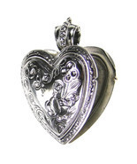 Gerochristo 3278 - Sterling Silver Engraved Heart Locket Pendant  - $270.00
