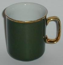 1950 JKW Bavaria Porcelain China Green Gold Trim Cup - $5.00