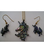Necklace & Earrings, Park Lane, Iridescent Black Unicorn - $15.00