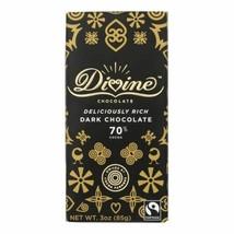 Divine - Bar Chocolate Dark 70% Cocoa - Case Of 12 - 3 Oz - $52.97