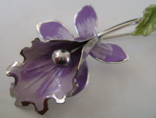 Pin, Lovely Metal Lavender Orchid