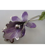 Pin, Lovely Metal Lavender Orchid  - $7.00