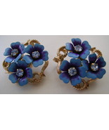 Earrings,  Avon, Clip Back, Forget Me Not   - $10.00