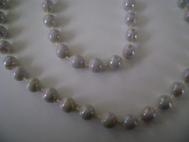 Necklace, 1 Strand of Gray Irridescent Beads - $10.00