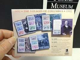 1992 Voyages of COLUMBUS STAMPS 6 Souvenir Sheets US Postage Stamp Unuse... - $19.99