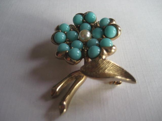Vintage Flower Brooch Sarah Coventry Signed