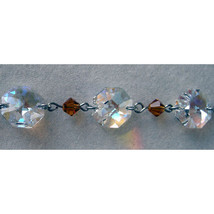 Silver Crystal Octagon and Bead Bracelet image 4