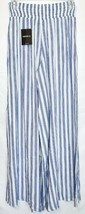 Forever 21 Women's Ivory Blue Striped Woven Wide Leg Pants Size S NWT