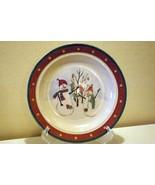 Royal Season Snowman Gold Dot Band Bread Plate - $2.51