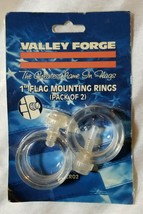 """Valley Forge PVCR02 1"""" Flag Mounting Rings (Pack of 2) - New - $2.96"""