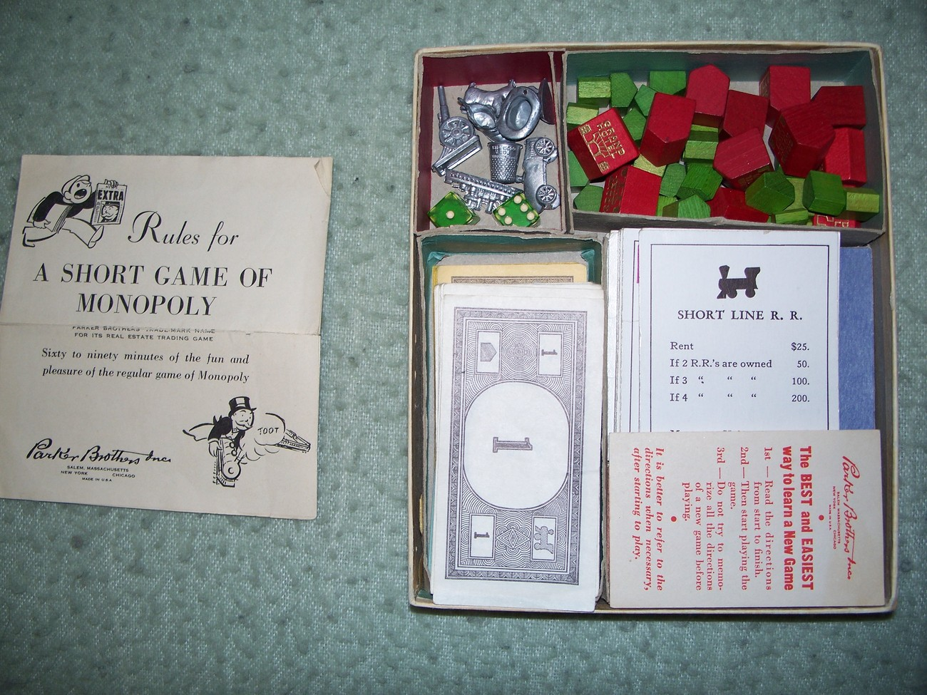 1952 Monopoly Popular Edition Parker Brothers