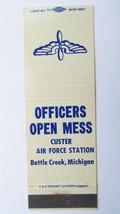 Custer Air Force Station - Battle Creek, Michigan 20FS Military Matchboo... - $2.00