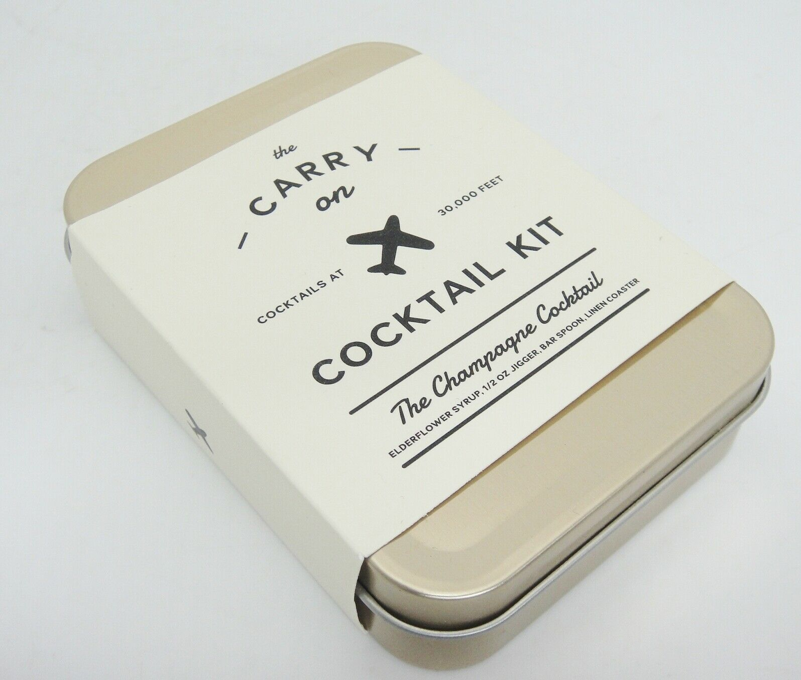Primary image for Carry On Cocktail Kit Champagne Cocktail Elderflower Syrup Jigger Spoon Coaster