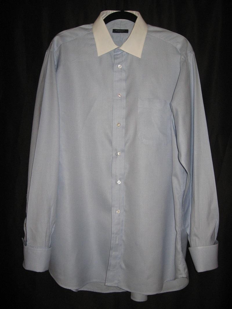 Burberry Mens Dress Shirt 16 1 2 33 34 Long Sleeve Blue