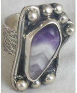Purple glass ring SR112 - $39.00