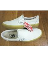 Vans Classic Slip on Mens Blue Flower Gum Canvas Skate Boat shoes Size 9... - $54.44
