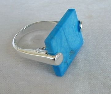 Turquoise pressed ring