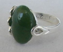 Green silver ring - $26.00