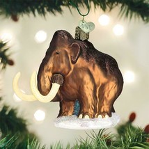 Old World Christmas Woolly Mammoth Glass Christmas Ornament 12563 - $20.88