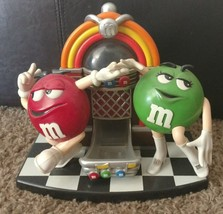 M & M 'S CANDY DISPENSER Red & Green Rock And Roll Cafe Jukebox - $18.95