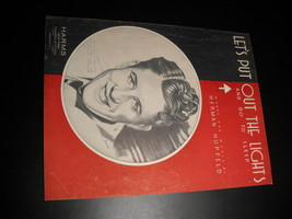 Sheet Music Let's Put Out The Lights And Go To Sleep Rudy Vallee 1932 Harms - $8.99