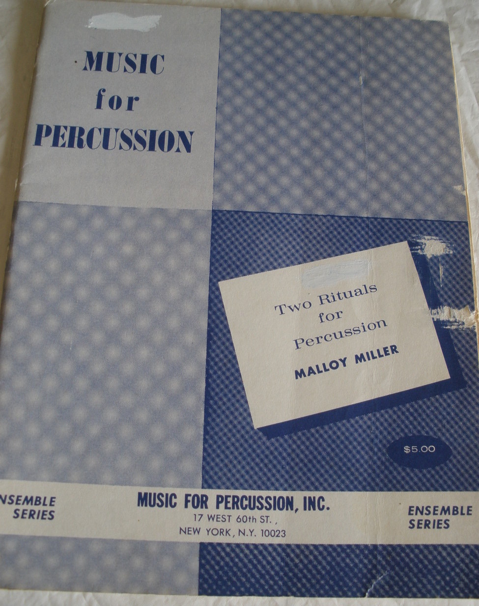 Two Rituals for Percussion - Miller - Percussion Quintet