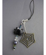 OOAK Halloween spider beaded cell phone strap - $14.00
