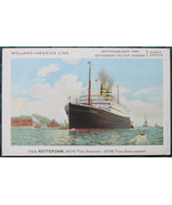 Lankhout Co., white border, color view of the T.S.S. Rotterd - $11.00