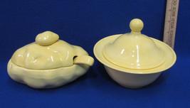 Vintage Ceramic Baked Potato Dish & Matching Yellow Bowl w/ Lid Candy Lo... - €11,37 EUR