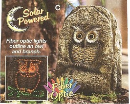 Landscaping Solar Lighted Rock with Owl Carving - $19.99