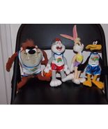 1996 Warner Bros Looney Tunes Space Jam Stuffed Toys Bugs, Taz, Daffy & ... - $24.99