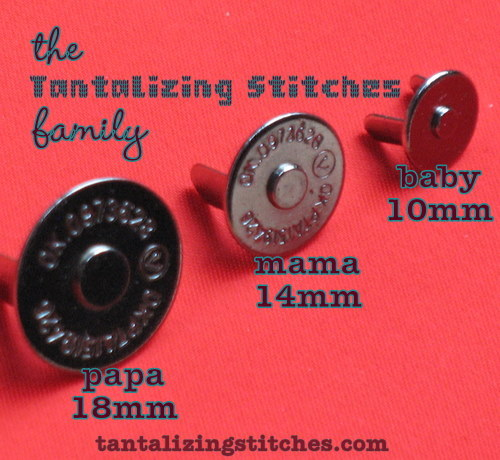 40 Nickel 14 mm Extra Thin Magnetic Snap Closures