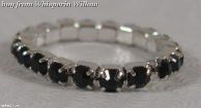 Colorful Black Crystal Toe Ring