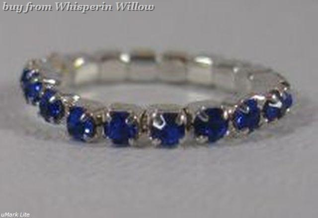 Colorful Blue Crystal Toe Ring