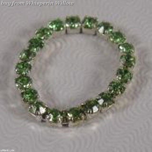 Colorful Green Crystal Toe Ring image 2