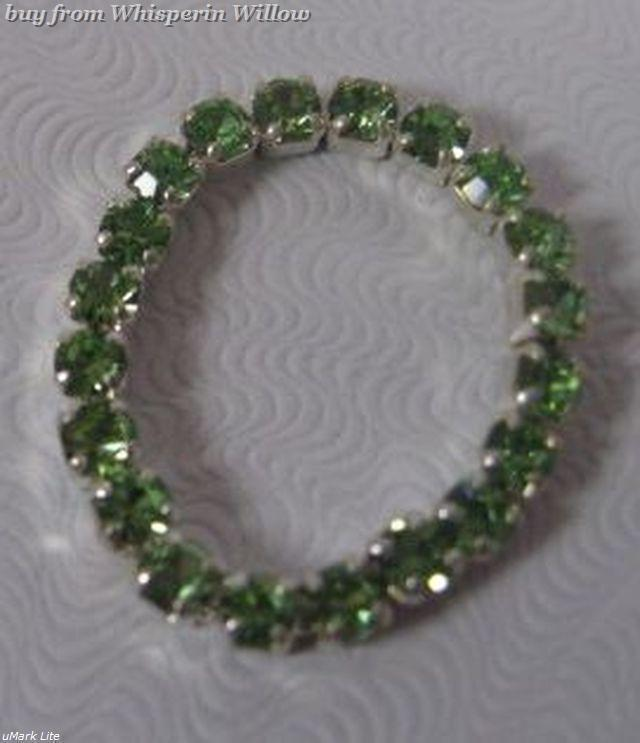 Colorful Green Crystal Toe Ring image 3