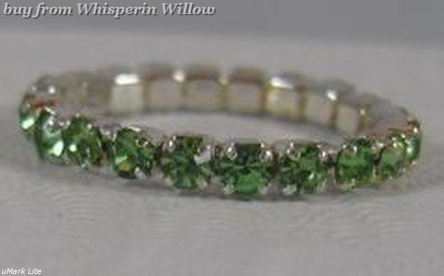 Colorful Green Crystal Toe Ring image 4