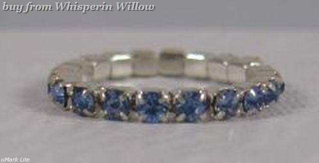 Colorful Light Blue Crystal Toe Ring