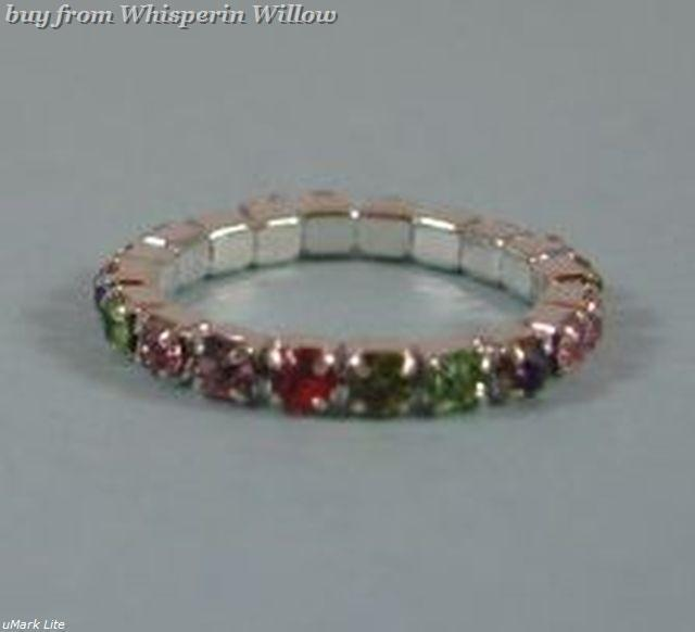 Colorful Multi-Color Crystal Toe Ring