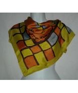 Desco Celebritees Vintage Scarf Geometric Rayon Silk Hand Rolled Edge La... - $11.99