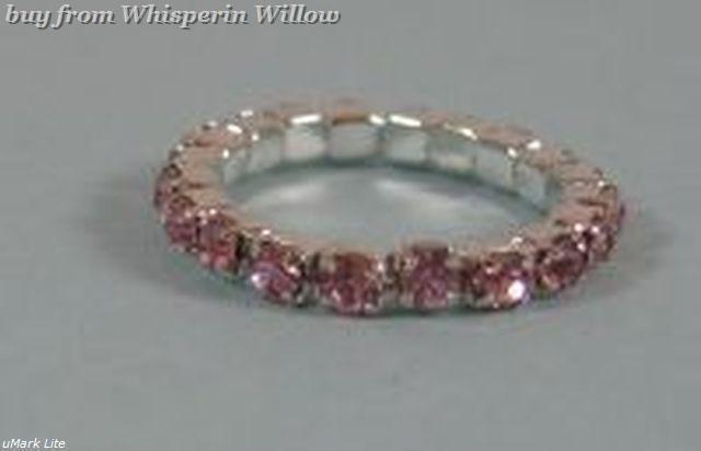 Colorful Pink Crystal Toe Ring