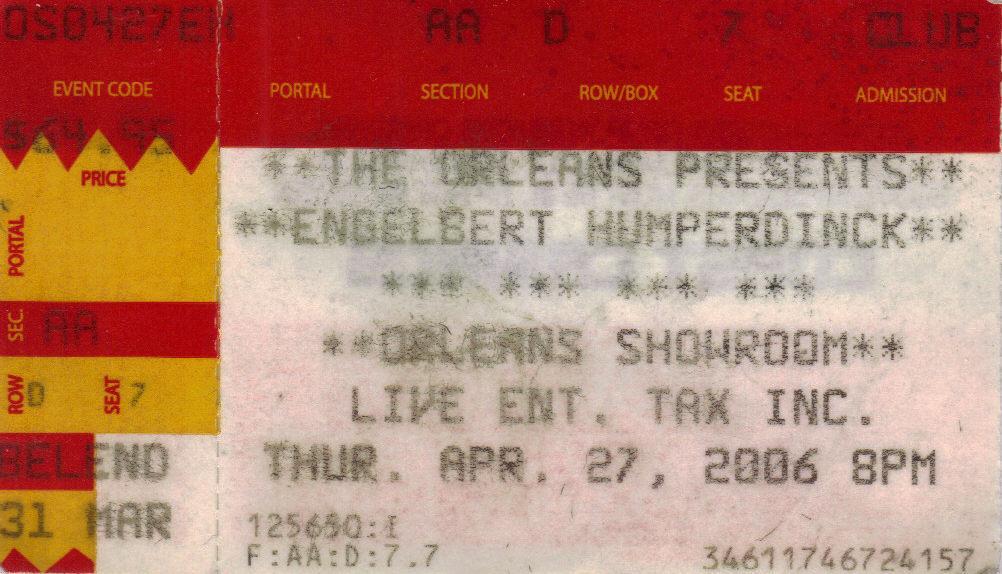 Ticket stub engelbert