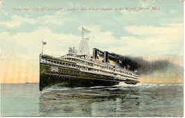 Side Wheel Steamship City of Cleveland Vintage Post Card - $6.00