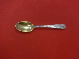 Lap Over Edge Acid Etched by Tiffany Sterling Coffee Spoon GW with Trout... - $160.65