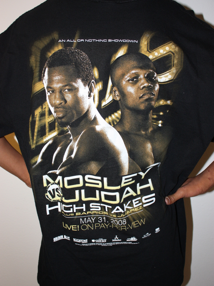 MOSLEY VS JUDAH BARRIOS VS JUAREZ HighStakes 08 T-Shirt XL