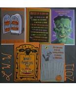 5 Halloween Greeting Cards & Envelopes Frankenstein Vampires - $5.65