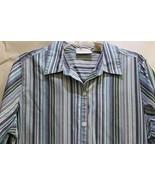 Studio Works Blue Stripe Long Sleeve Woman's Button Blouse - $12.95
